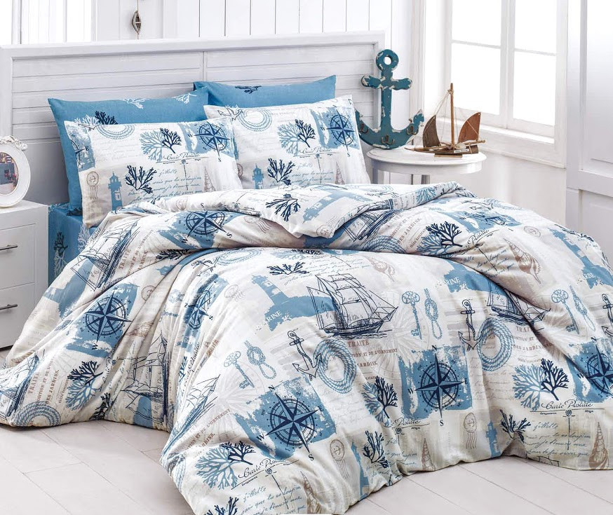Комплект двуспального постельного белья Парусник