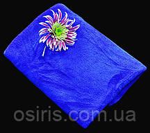 Полотенце Микрофибра 400 г/м2 (45 х 95 см) для спорта, массажа, йоги, туризма  синий цвет