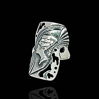 Серебряное кольцо Нефертити с прозрачными фианитами