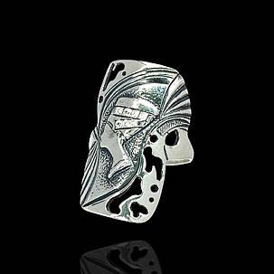 Серебряное кольцо Нефертити с прозрачными фианитами, фото 2