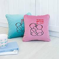 Подушка любимым «Люблю быть рядом с тобой» флок, фото 1