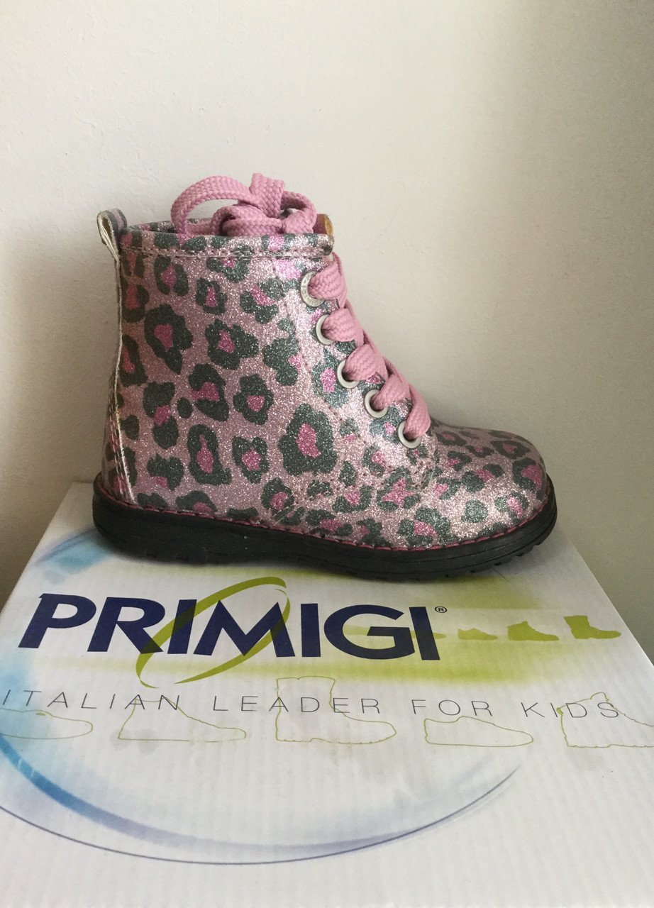 Ботинки для девочки PRIMIGI нарядны с утеплителем из овечей шерсти