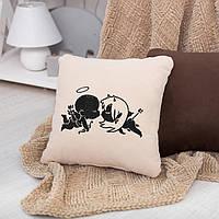 Подушка любимым «Ангелочки» флок, фото 1