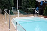 Ограждение бассейна со стеклянным заполнением