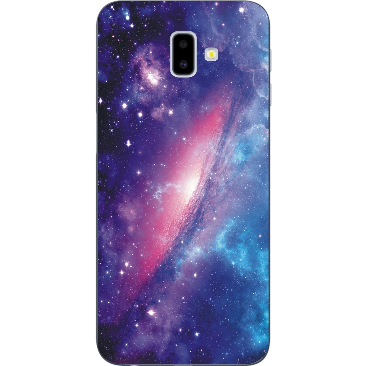 Силіконовий бампер з картинкою для Samsung Galaxy J6 Plus 2018 Космос