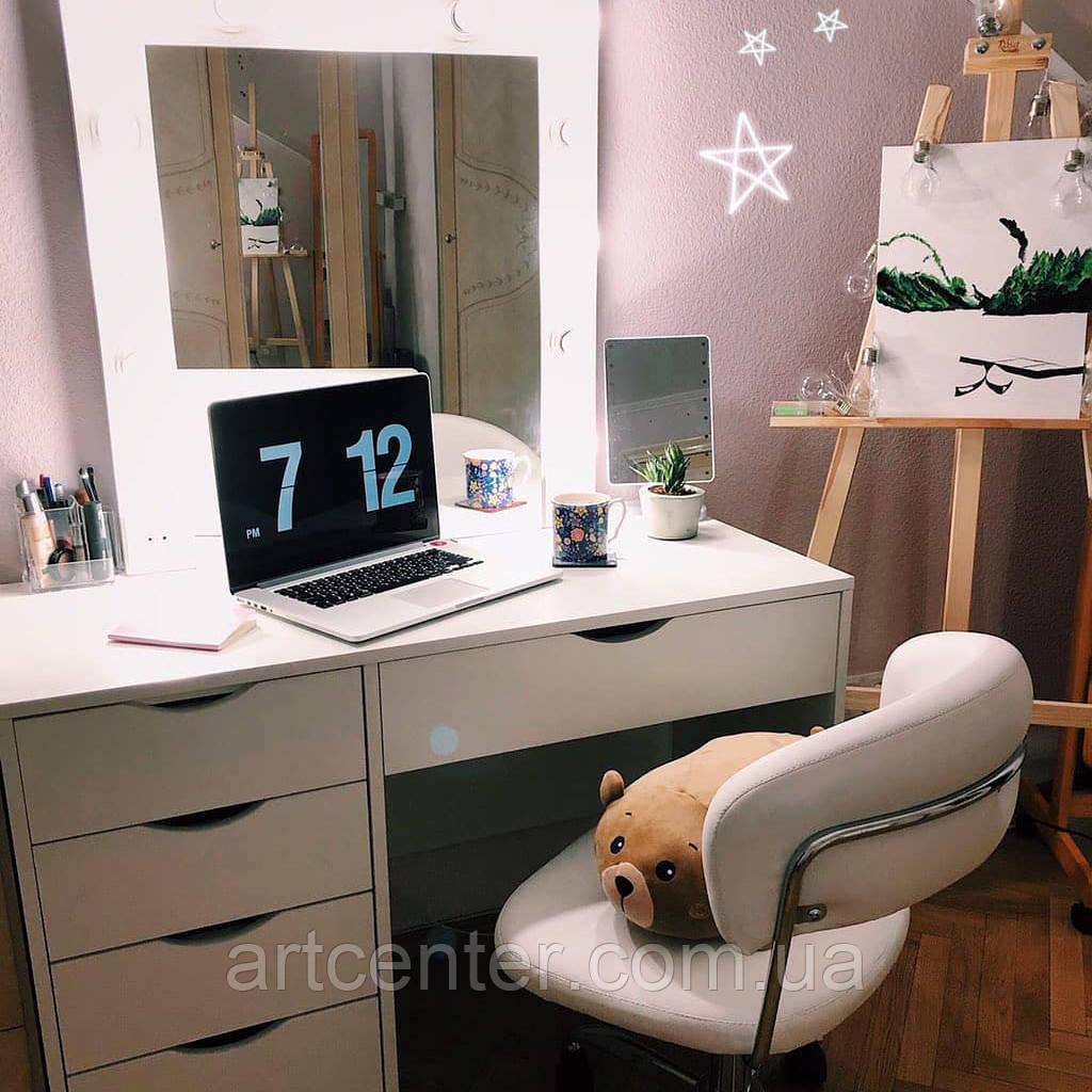 красивый туалетный столик стол визажиста гримерное зеркало