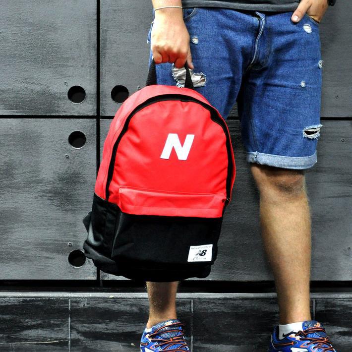 Рюкзак спортивный. Нью бланс, New Balance. Красный с черным, фото 1