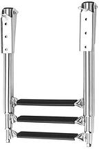 Нержавеющая телескопическая лестница для монтажа на платформу