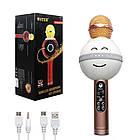 Беспроводной Bluetooth микрофон для караоке WS-878 Смайл!, фото 2