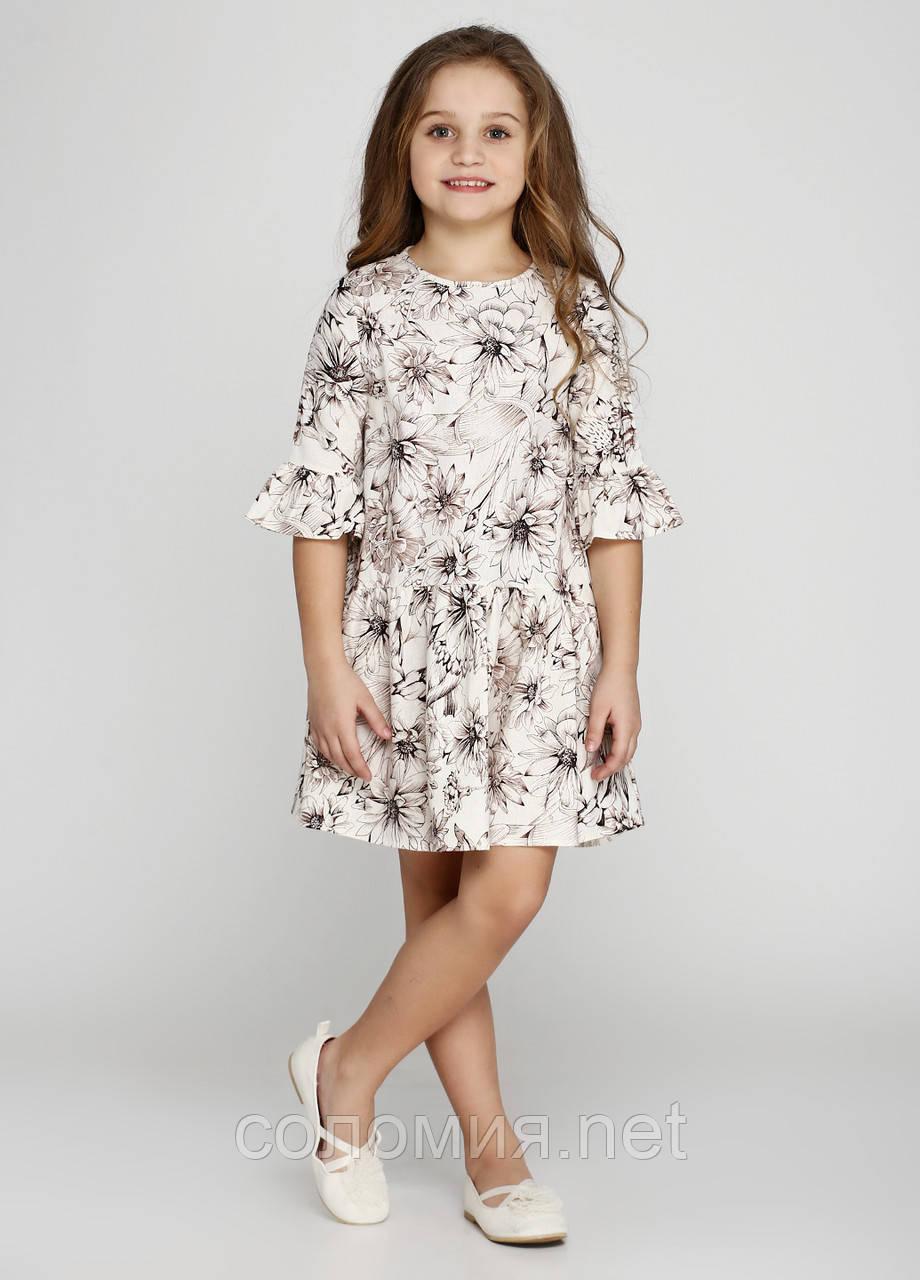 Чудова сукня з льону для дівчинки 128-152р