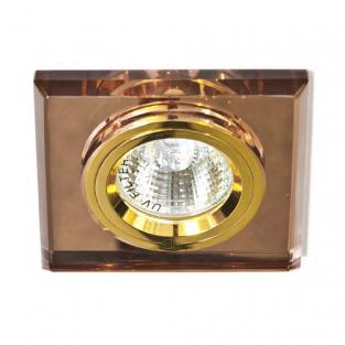 Точечный встраиваемый светильник Feron 8170-2 коричневый+золото