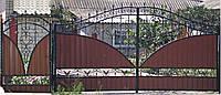 Ворота распашные № 17