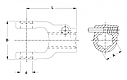 Вилка карданного валу AG 2500 KNP1 3/8-6 STIFT L118, фото 2