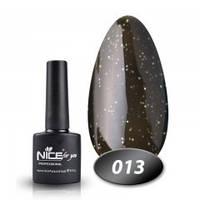 Гель-лак Nice for you № 13 (черный с золотым микроблеском), 8,5 мл