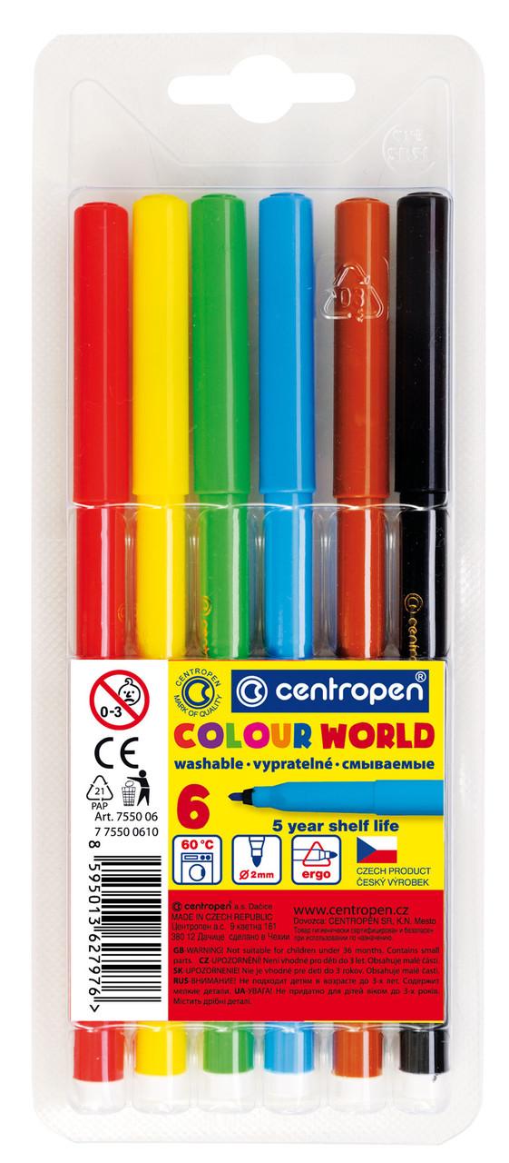 Фломастери Centropen 6 кол Colour World