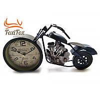 """Годинники настільні """"Мотоцикл"""" сині (28х15х7,5 см)"""