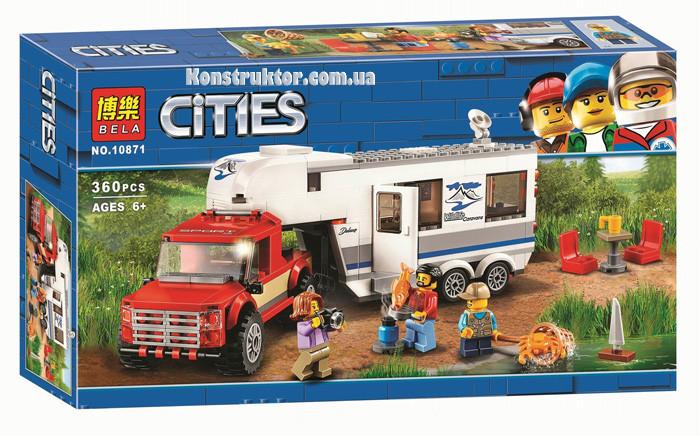 """Конструктор Bela 10871 City """"Дом на колесах"""" 360 деталей. Аналог LEGO City 60182"""