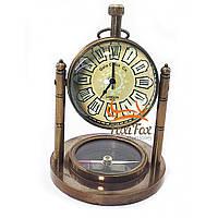 Часы кабинетные бронзовые Винтаж