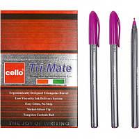 Ручка масляная «Tri-Mate» Cello В малиновая 1 упаковка (50 штук)