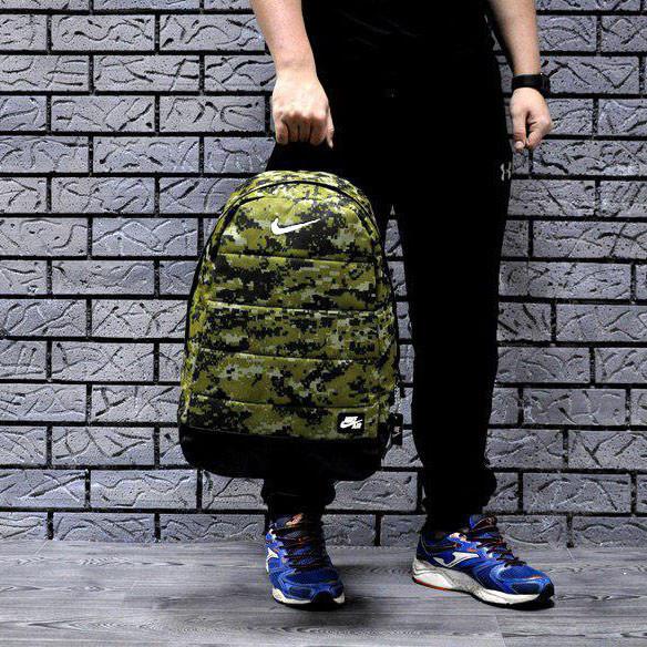 Городской, спортивный рюкзак Nike Air, найк. Пиксель, камуфляж, фото 1