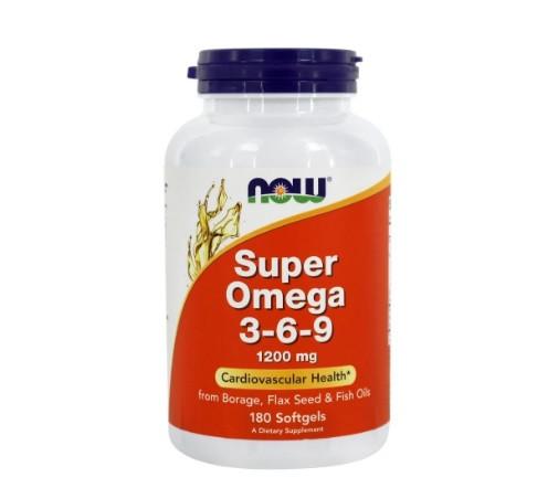 Омега Now Foods - Super Omega 3-6-9 1200 мг (180 капсул)