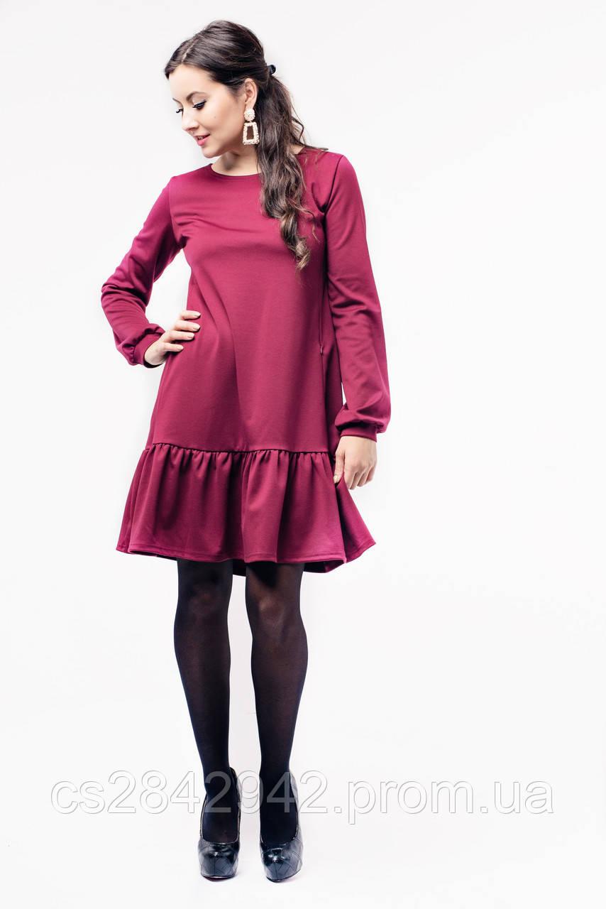 Сукня для вагітних та годуючих (Платье с оборкой для беременных и кормления  - Бордо) ... ee703bf230ad1