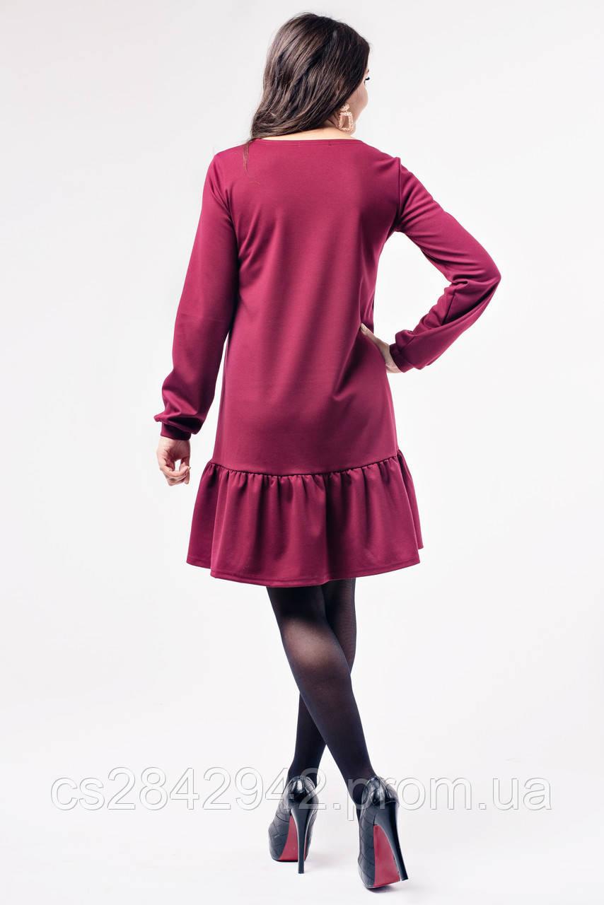 ... Сукня для вагітних та годуючих (Платье с оборкой для беременных и  кормления - Бордо) 99c29e1d286e7