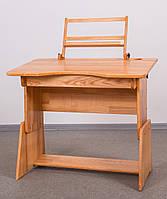 Рабочий антисколиозный стол школьника из натурального дерева с переменными параметрами 900х570хh мм