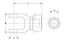 Вилка карданного валу ASG 2500 KNP1 3/8-6 AS-C L133 KPL, фото 2