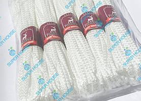 Шнур побутовий поліпропіленовий в'язаний.  Діаметр 4 мм, довжина 15 м, 5 білих в упаковці.