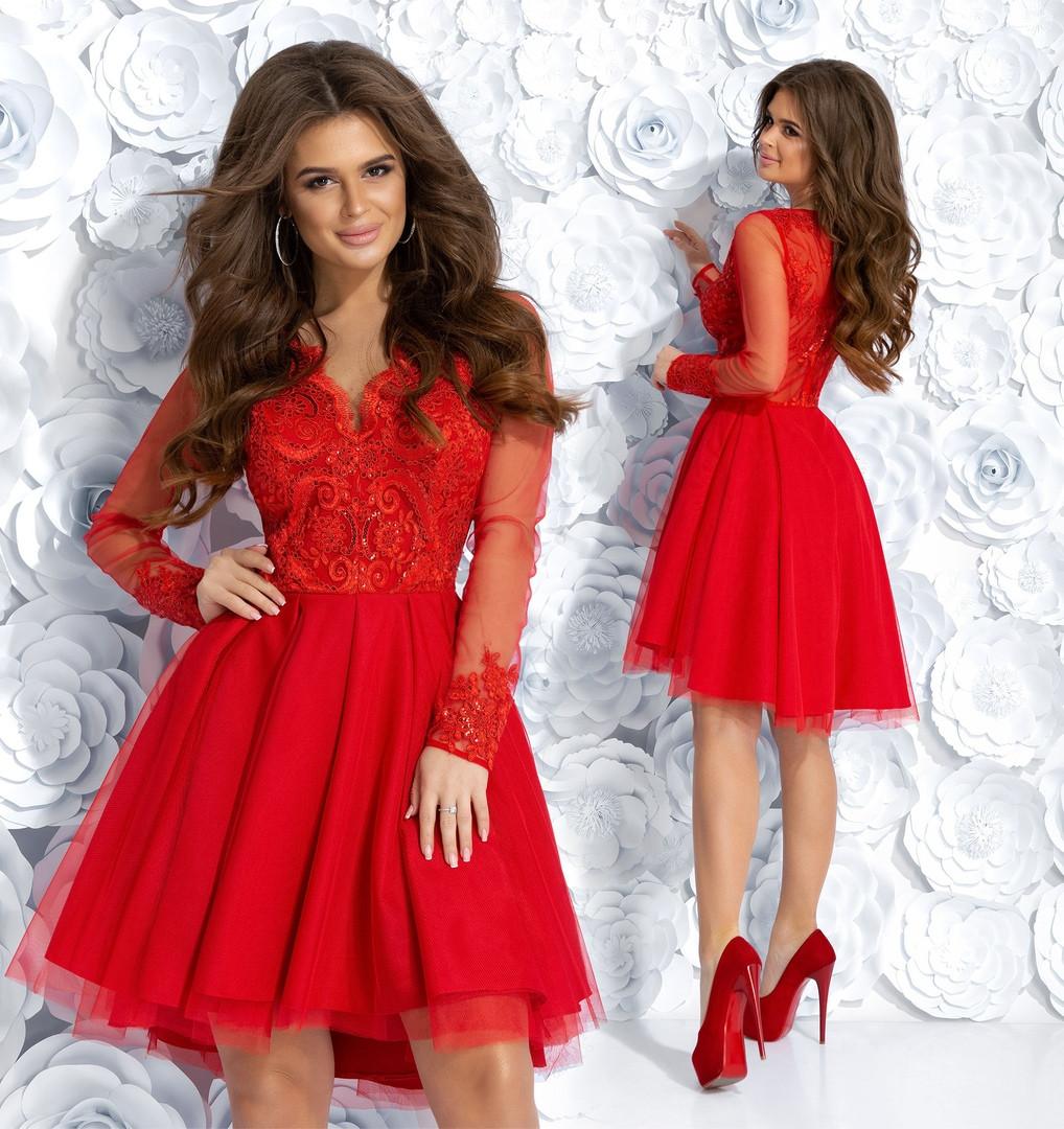 4b3e54c8346 Платье Выпускное Вечернее Красивое до Колен Гипюр+подкладка+сетка ...