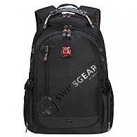 Вместительный рюкзак SwissGear, свисгир. Черный. 35L. 8816 black