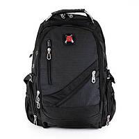 Вместительный рюкзак SwissGear, свисгир. Черный. 35L / 8815 black