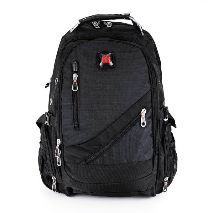 Вместительный рюкзак SwissGear, свисгир. Черный. 35L / 8815 black, фото 1