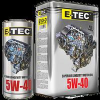 Масло моторное E-TEC 5W-40 Turbo Diesel CH-4 4лит