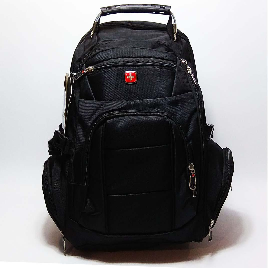 Вместительный рюкзак SwissGear, свисгир. Черный. 35L / 7697 black, фото 1