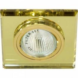Точечный встраиваемый светильник Feron 8170-2 желтый+золото