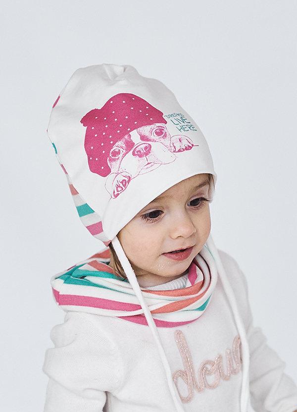 Детская шапка ДЖОДИ  для девочек оптом размер 46-48-50