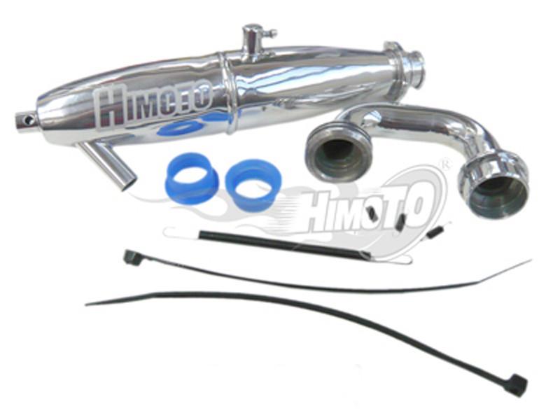 (081009) Alum 1/8 28CXP Exhaust Pipe 1P