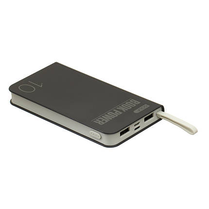 Внешний аккумулятор Power Bank 10000mAh GOLF G-29 black (Polymer, 2 USB, Micro, iPhone 5 , Book desing), фото 2