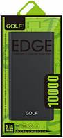 Power Bank 10000mAh GOLF Edge 10 black (2 USB, слот Ip 5, металлический корпус)