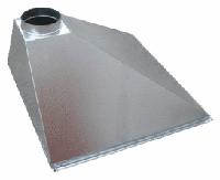 Бытовой вытяжной зонт пристенный купольный из нержавеющей стали