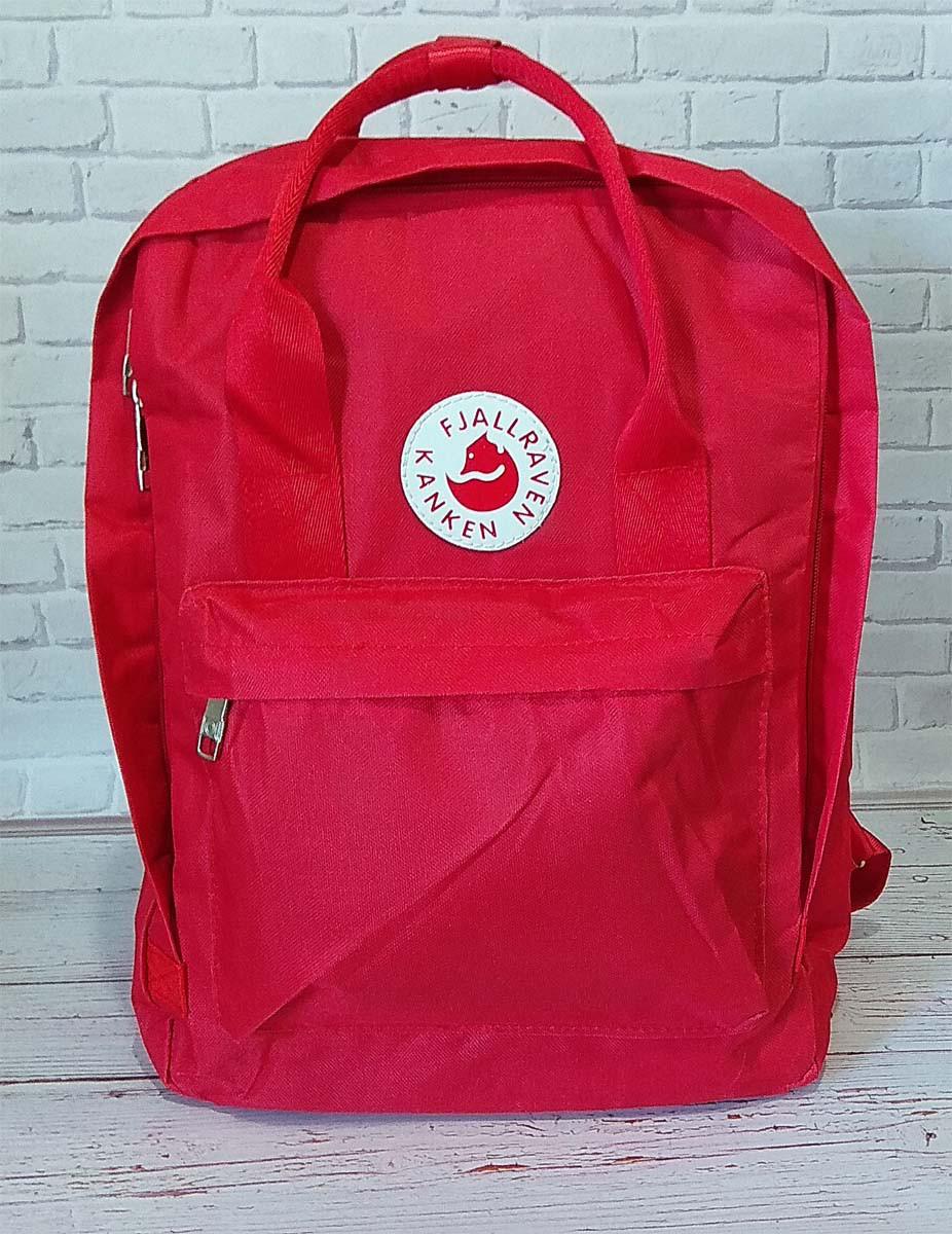 Стильный рюкзак Fjallraven Kanken, канкен с отделением для ноутбука. Красный / 8852 red, фото 1