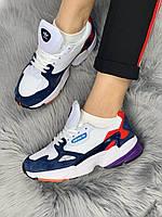 Женские кроссовки Adidas Falcon Navy Blue White