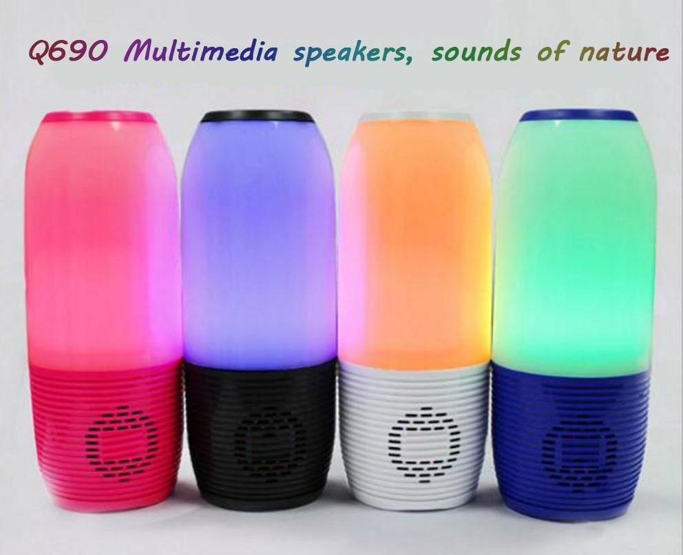 Беспроводная портативная Bluetooth колонка Q690 LED