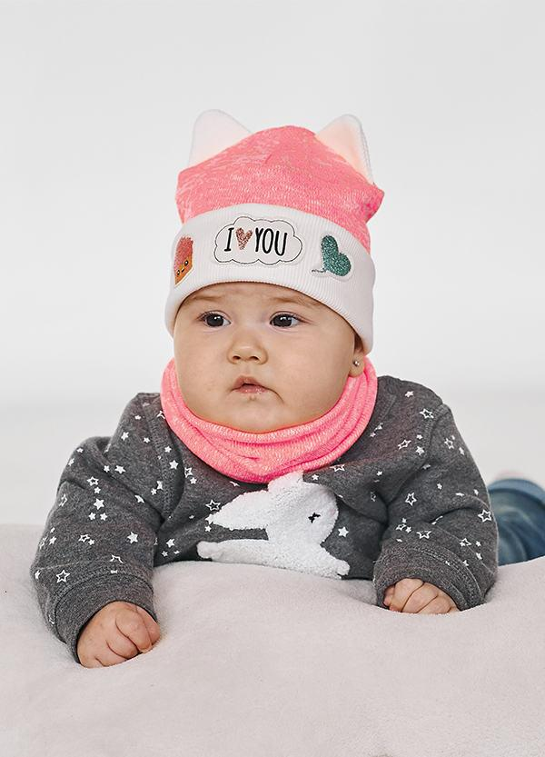 Детская шапка КАЯ (набор) для девочек оптом размер 46-48-50