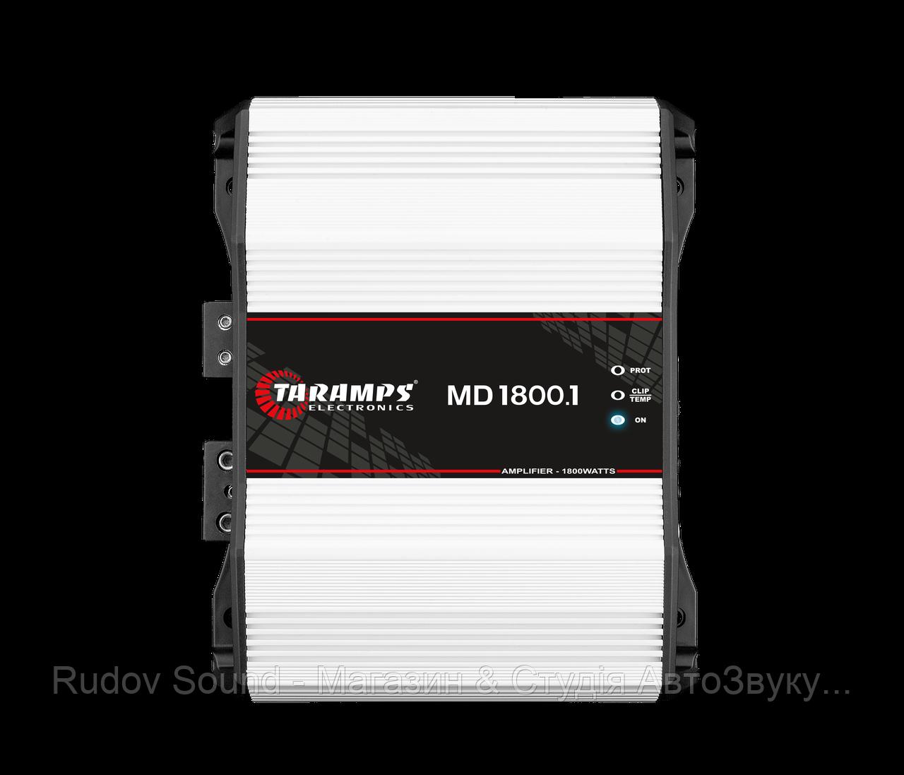 Усилитель Taramps MD 1800 v.1Ω (Широкополосный моноблок | 800w в 4Ω | 1410w в 2Ω | 1800w в 1Ω)