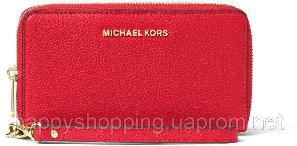 Женский оригинальный розовый кошелек-клатч  Michael Kors