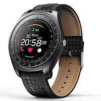 Смарт часы V10 камера, SIM, измеряют пульс (BLACK), фото 1