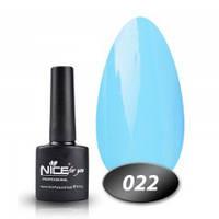 Гель-лак Nice for you № 22 (голубой), 8,5 мл